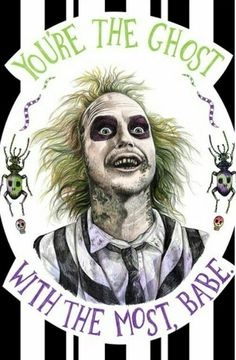 Beetlejuice: You're the ghost with the most, babe Arte Horror, Horror Art, Horror Movies, Horror Movie Tattoos, Horror Room, Tim Burton Kunst, Tim Burton Art, Burton Burton, Princesas Disney Zombie