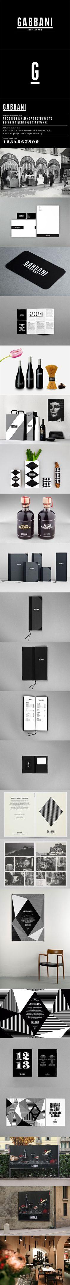 Gabbani @Demian Bellumio Conrad Design. One of my black and white favs #packaging #branding #marketing PD