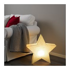 IKEA - STRÅLA, Table decoration with LED bulb, Gives a warm, cozy glow and spreads the holiday atmosphere in your home.Gives a soft mood light.