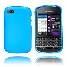 Frosted (Blå) Blackberry Q10 Deksel Blackberry Q10, Frost, Phone, Cover, Silicone Rubber, Telephone, Mobile Phones