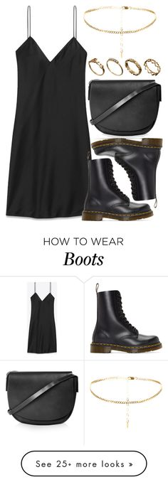 """Untitled #5567"" by rachellouisewilliamson on Polyvore featuring Yves Saint Laurent, Dr. Martens, Topshop and ASOS"