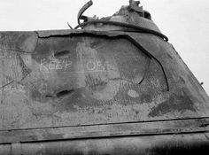 Impact of 3 rounds of 76mm HE on a German Panther, killing turret crew but no other damage.