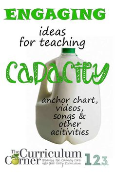 Engaging Ideas for Teaching Capacity by The Curriculum Corner FREE