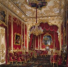 Interiors of the Winter Palace. The Boudoir of Empress Maria Alexandrovna