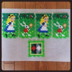 Alice in Wonderland holder perler beads by risa