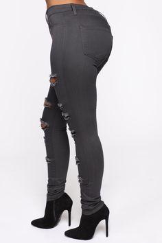 Slash and Burn Jeans - Grey – Fashion Nova Slash And Burn, Skins Leggings, Jean Grey, Grey Fashion, Skinny Legs, Burns, Nova, Spandex, Cotton