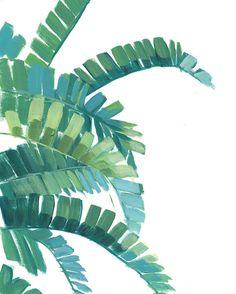 Banana Leaf Print Green Tropical Leaves Print by shelbydillon