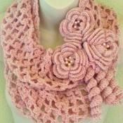 Blushing Flowers Infinity Scarf - via @Craftsy...I think the roses are a bit much....maybe just one...but I love the scarf part.