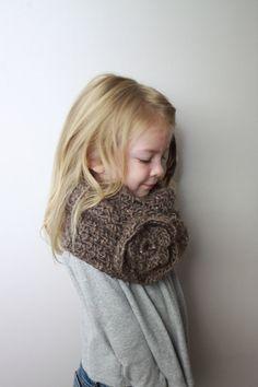 Veronica - Crochet PATTERN ONLY - Childrens Cowl Neckwarmer, via Etsy.
