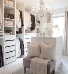 Best Walk In Closet Designs Ideas – walk in closet – walk in closet ideas – Home Decorations, Closet Organization Dressing Room Closet, Decor, Home, Walk In Closet Design, House Design, Bedroom Decor, House Interior, Room, Room Design