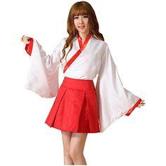 Partiss Maedchen Japanischer Anime Inuyasha Cosplay Kimono Kikyo Langarm Red Uniform Lolita Kostuem Partiss http://www.amazon.de/dp/B00ZOG0ROY/ref=cm_sw_r_pi_dp_JHKKvb13YC6FH
