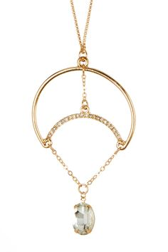 Stephan & Co - Crystal Pave & Drop Pendant Necklace Gold Necklace, Pendant Necklace, Top Designer Brands, Nordstrom Rack, Women Jewelry, Pendants, Crystals, Diamond, Drop