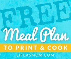 Free Printable Meal Plans with Grocery Lists | Life as MOM - over 40 free meal plans and the list is growing.