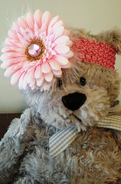 Girl's Flower Headband by GigisFlowerFancy on Etsy, $6.00