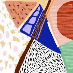 """llustration by Ezgi Okur """"Mountains, Railway"""""""