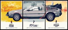 Back To The Future Poster Triptych by Phantom City Creative