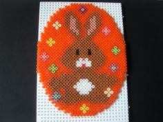 Easter bunny egg hama perler beads by isabelle8119