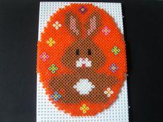 Easter bunny egg hama perler beads by isabelle8119