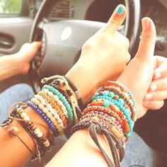 Summer bracelets  <3
