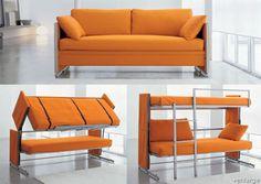 space saving convertible bunk bed!