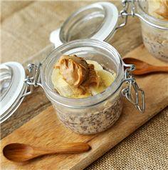 Peanut Butter Overnight Oats - Recipe | Quakeroats.com Use almond milk in place of low fat milk.