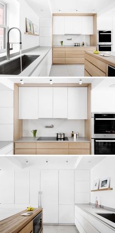 3 Cheap And Easy Unique Ideas: Minimalist Home Living Room Apartment Therapy minimalist kitchen cupboards white cabinets.Zen Minimalist Home Inspiration minimalist kitchen cupboards white cabinets. Kitchen Room Design, Modern Kitchen Design, Interior Design Kitchen, Modern Interior, Diy Interior, Kitchen Contemporary, Farmhouse Interior, Minimalist Interior, Minimalist Decor