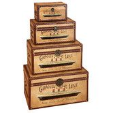 Found it at Wayfair - Vintage Style Wood Storage Trunks (Set of 4)