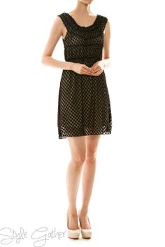 Dotted Lace Dress in Black. Great Site! 50% off everything.