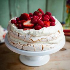 Summer Berry Pavlova! One of my most popular videos! Great summer baking over on my YouTube channel!