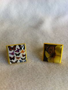 Wood base adjustable butterfly character funky ring by Cherie4e, $5.00