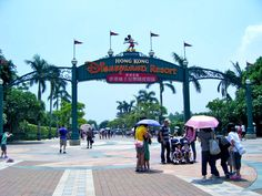 The entrance of Hong Kong Disneyland. Just a step away from the MTR Station