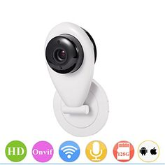 PowerLead Pcam WIFI 720P Smart IP Monitor Camera Security Surveillance System Baby Monitor PC Camera
