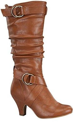 c4c3dd8bce2 Top Moda Women s Auto-2 Round Toe Dress Boot
