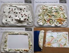 Dexterous Designs: Stampin' Up! Uk - Just Sayin' with Shaving Foam!
