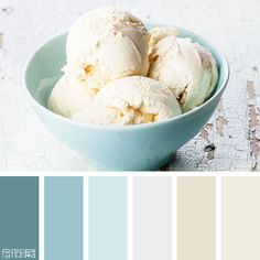 Color Palette: Shades of Blues and Creams. Ice Cream.  If you like our color inspiration, sign up for our monthly trend letter here! http://patternpod.us4.list-manage.com/subscribe?u=524b0f0b9b67105d05d0db16a&id=f8d394f1bb&utm_content=buffer847d9&utm_medium=social&utm_source=pinterest.com&utm_campaign=buffer
