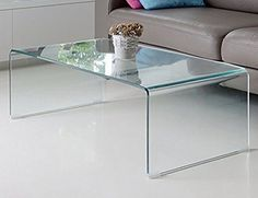 All Clear Glass Coffee Tables Bent, Fab Glass And Mirror