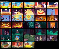 Bonito trabalho da Headless Productions para a FEMA Animation Background, Art Background, Comic Layout, Color Script, Mood Colors, Animation Reference, Character Design Animation, Visual Development, Environment Design