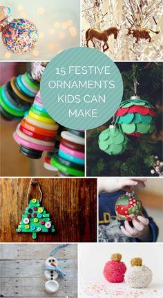 15 Easy And Festive Ornaments Kids Can Make Homemade Christmaschristmas Diychristmas