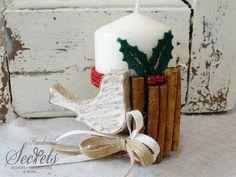#γούρια #χειροποίητα γούρια #χριστουγεννιάτικα στολίδια Pillar Candles, Handmade, Design, Decor, Xmas, Hand Made, Decoration, Decorating