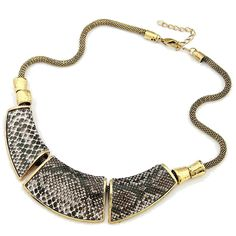 >> Click to Buy << Xl053 wholesale Jewelry Fashion Geometry montage Snake Skin Vintage Necklace #Affiliate