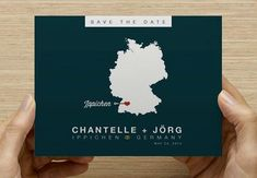 Germany Save the Date Postcard