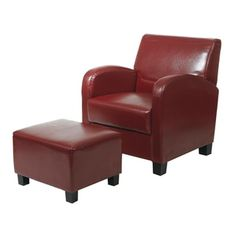Uptown Modern Accent Chair and Ottoman by TRIBECCA HOME | Overstock.com Shopping - The Best Deals on Living Room Chairs