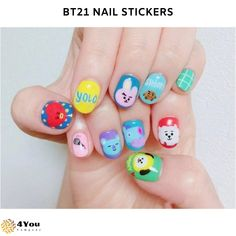 Cute Nail Designs For Spring – Your Beautiful Nails Cute Nail Art, Cute Nails, Pretty Nails, Korean Nail Art, Korean Nails, Acrylic Nail Art, Acrylic Nail Designs, Bts Doll, Bts Makeup