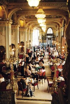 Café New York. According to some travel magazines the nicest café in the world. Budapest #travel