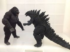 An epic battle reconstruction between King Kong versus Godzilla. They represent two different popular culture as King Kong is an American Kaiju while Godzilla represents Japan.