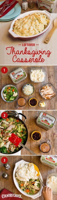 Stuck with a fridge full of Thanksgiving leftovers? Turn them into a whole new meal with our Leftover Thanksgiving Casserole! If you have 2C leftover turkey & 1C leftover mashed potatoes, all you need is an onion, frozen mixed veggies, a pack of gravy, dried cranberries, & Country Crock®—made with real, simple ingredients & the country fresh taste you love. Now that Thanksgiving is thankfully behind you, this easy crowd-pleaser is sure to be a welcome relief in your dinner routine.