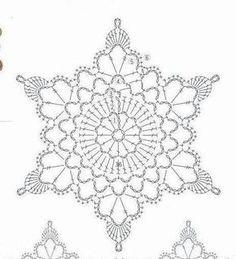 Crochet White Snowflake Tree Ornaments Christmas Snowflakes Set Of 6 Ornaments Hand Crochet Snowflake Tree Decoration Winter Wedding Decor Crochet Snowflake Pattern, Crochet Stars, Crochet Motifs, Crochet Snowflakes, Crochet Diagram, Doily Patterns, Thread Crochet, Crochet Doilies, Crochet Flowers