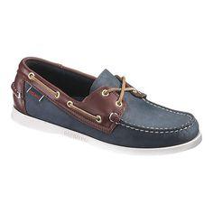 00e484211a Men s Sebago Spinnaker - Blue Brown Moc Toe Shoes