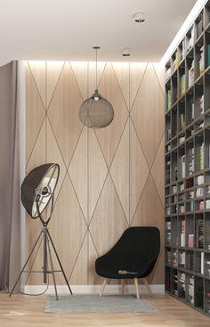 Дизайн интерьера загородного дома. Совместно с Антоном Волошиным.  Первый этаж. Холл, кабинет, каминная, кухня, санузлы, спортзал.