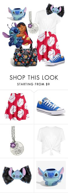 """Lilo and Stitch"" by madalynkw on Polyvore featuring Converse, Disney and summerofdisneystyle"